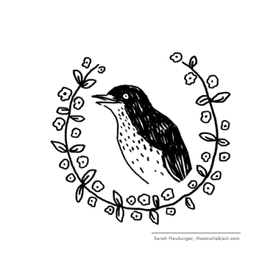Blackbird illustration by Atlanta based illustrator Sarah Neuburger